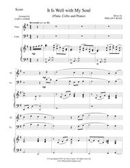IT IS WELL WITH MY SOUL (Trio for Flute Cello and Piano with Parts)