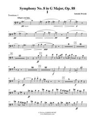 Dvorak Symphony No. 8, Movement I - Trombone in Bass Clef 1 (Transposed Part), Op. 88