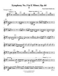 Tchaikovsky Symphony No. 5, Movement I - Trumpet in Bb 1 (Transposed Part), Op. 64