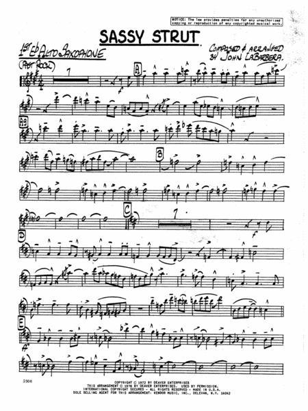 Sassy Strut - 1st Eb Alto Saxophone