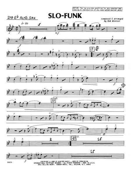Slo-Funk - 2nd Eb Alto Saxophone