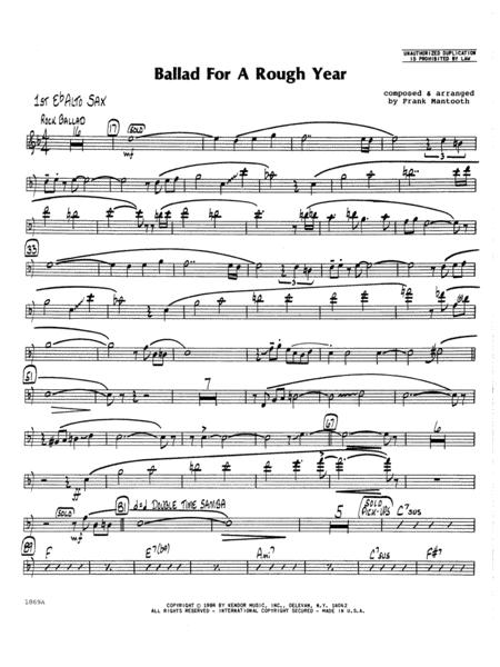 Ballad For A Rough Year - 1st Eb Alto Saxophone