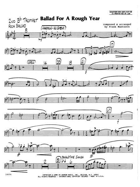 Download Ballad For A Rough Year - 2nd Bb Trumpet Sheet Music
