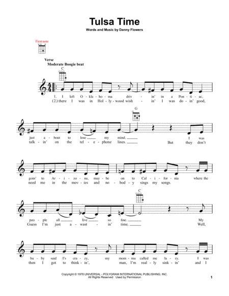 Download Tulsa Time Sheet Music By Don Williams - Sheet Music Plus