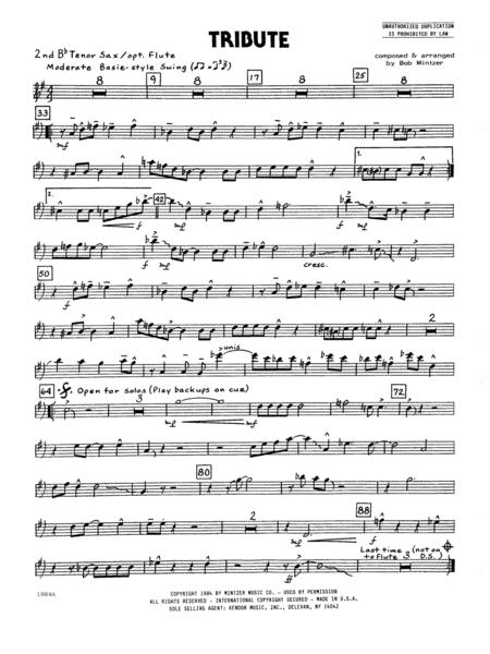 Tribute - 2nd Bb Tenor Saxophone
