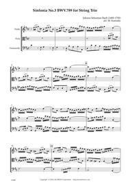 Sinfonia No.3 BWV.789 for String Trio