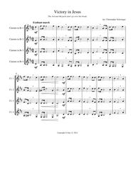 Download Victory In Jesus - 4 Clarinets Sheet Music By