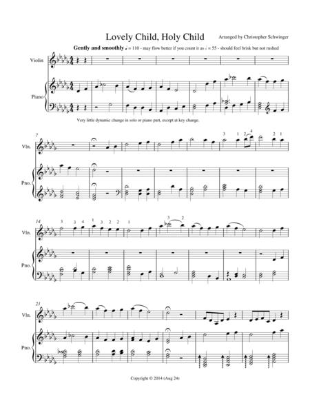 Lovely Child, Holy Child - violin & piano