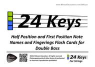 Double Bass Flash Cards