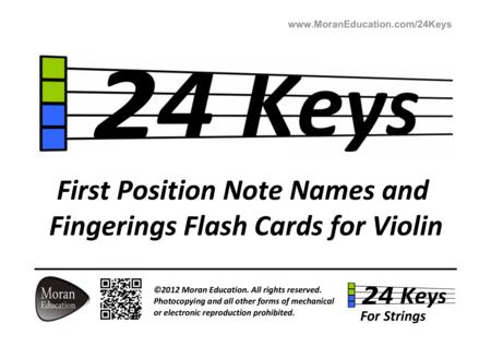 Violin Flash Cards
