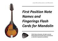 Mandolin Fingering Flash Cards - First Position
