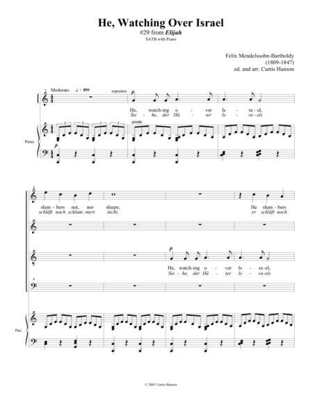 He, Watching over Israel (SATB - key of C)