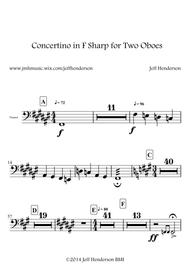 Concertino in F Sharp for Two Oboes (With Key Signature)
