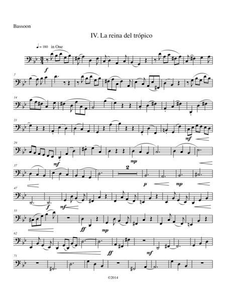 Mexican Fantasies, IV. La reina del trópico, for Woodwind Quartet