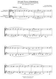 O Little Town of Bethlehem (for euphonium duet (Bb treble, 3 or 4 valved), suitable for grades 2-6)