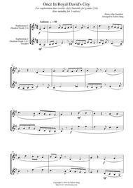 Once In Royal David's City (for euphonium duet (Bb treble, 3 or 4 valved), suitable for grades 2-6)