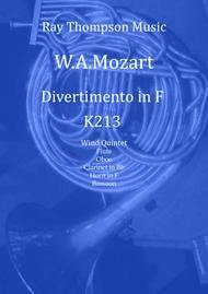 Mozart: Divertimento No.8 in F K213 - wind quintet