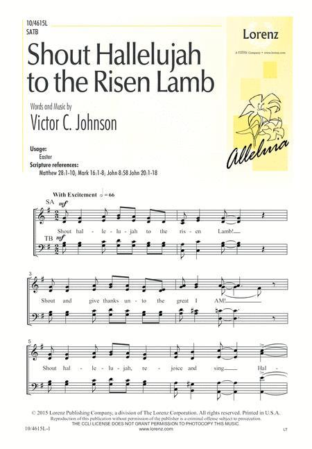 Shout Hallelujah to the Risen Lamb