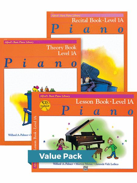 Alfred's Basic Piano Library Lesson, Theory, Recital 1A (Value Pack