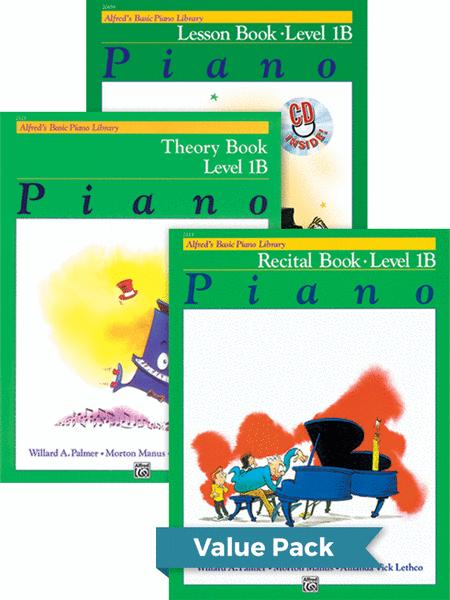 Alfred's Basic Piano Course - Lesson, Theory, Recital Level 1B (Value Pack)