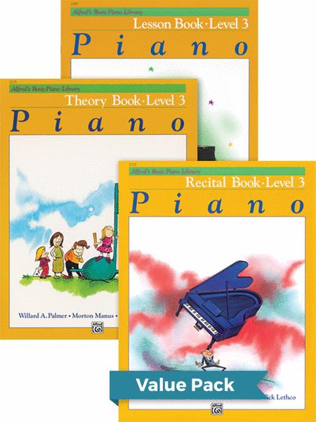 Alfred's Basic Piano Course - Lesson, Theory, Recital Level 3 (Value Pack)