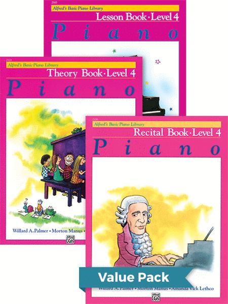 Alfred's Basic Piano Course - Lesson, Theory, Recital Level 4 (Value Pack)