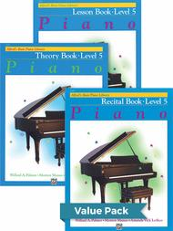Alfred's Basic Piano Course - Lesson, Theory, Recital Level 5 (Value Pack)
