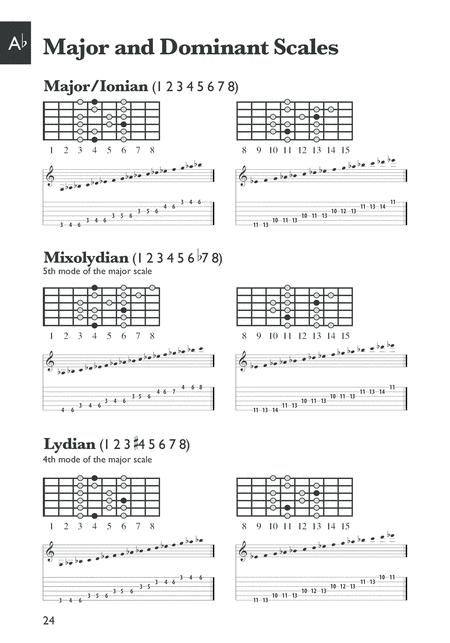 Mini Music Guides -- Guitar Scale Dictionary