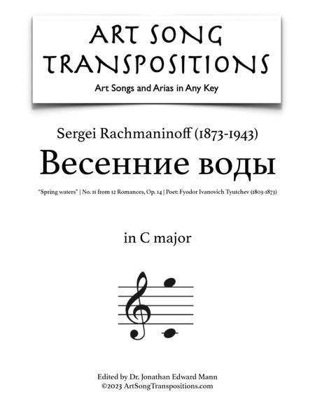 Spring Waters, Op. 14 no. 11 (C major)