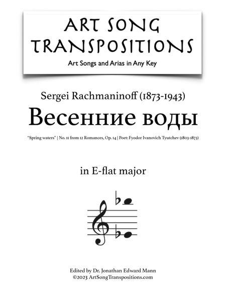 Spring waters, Op. 14 no. 11 (E-flat major)