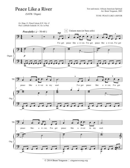 Peace Like a River (SATB)