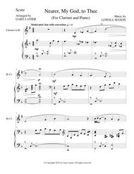 NEARER, MY GOD, TO THEE  (Duet– Bb Clarinet/Piano with Score and Clar Part)