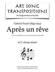Après un rêve, Op. 7 no. 1 (C-sharp minor)