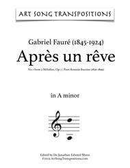 Après un rêve, Op. 7 no. 1 (A minor)