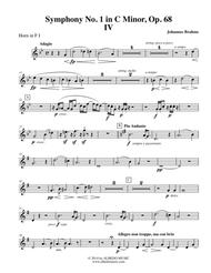 Brahms Symphony No. 1, Movement IV - Horn in F 1 (Transposed Part), Op. 68