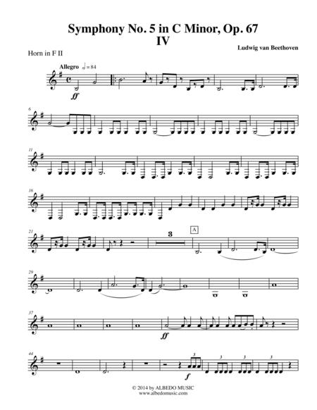 Download Beethoven Symphony No  5, Movement IV - Horn In F 2