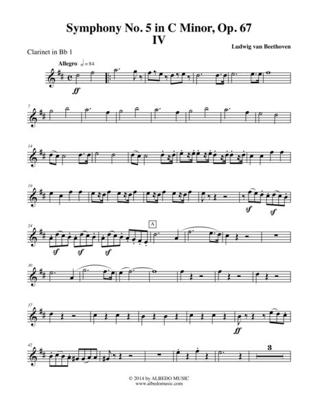 Download Beethoven Symphony No  5, Movement IV - Clarinet In