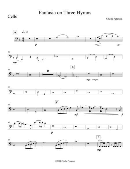 Fantasia on Three Hymns- Cello