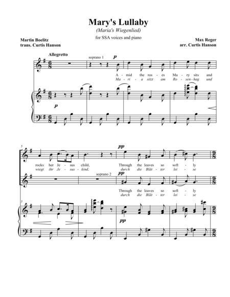 Mary's Lullaby (SSA)