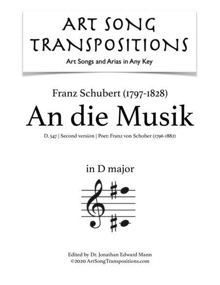 An die Musik, D.547 (D major)