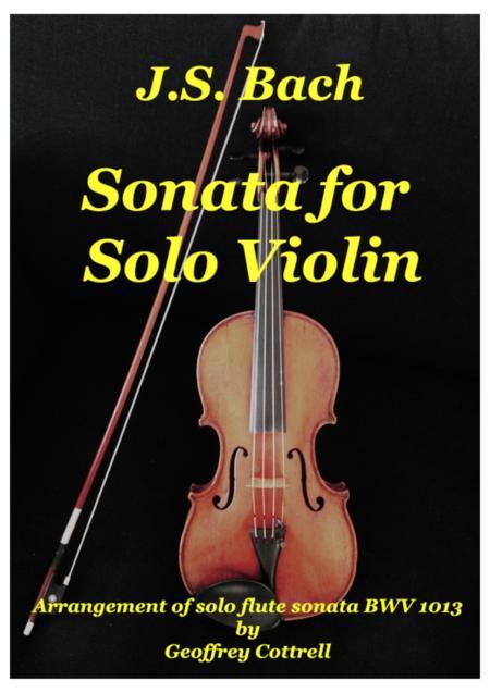 JS Bach - Sonata for solo violin (arrangement of BWV1013)