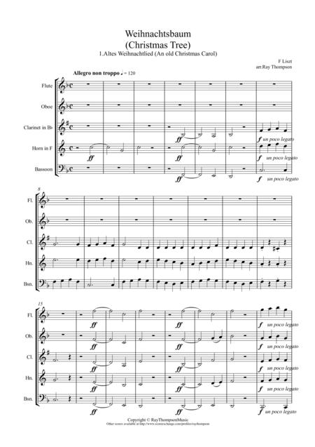 Liszt: Weihnachtsbaum (Christmas Tree) No.1 Altes Weihnachtlied (An old Christmas Carol) - wind quintet