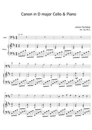 Download Canon In D Major Cello And Piano Sheet Music By Johann