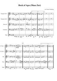 Rock of Ages (Maoz Zur) - Brass Quintet