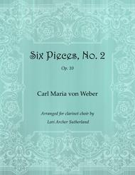 Six Pieces, No. 2 for clarinet choir