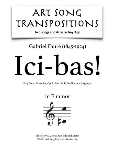 Ici-Bas! Op. 8 no. 3 (E minor)