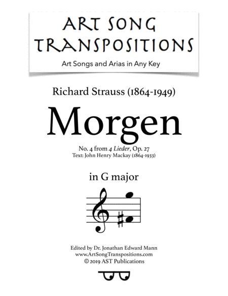 Morgen! Op. 27 no. 4 (G major)