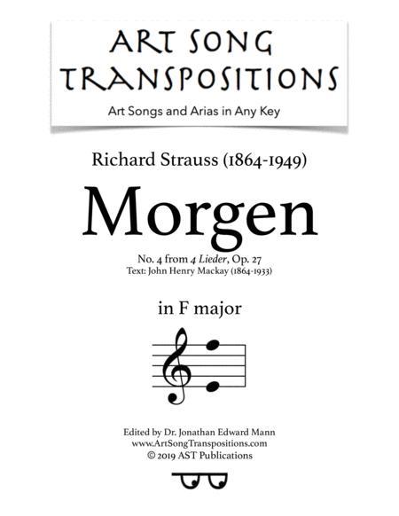 Morgen, Op. 27 no. 4 (F major)