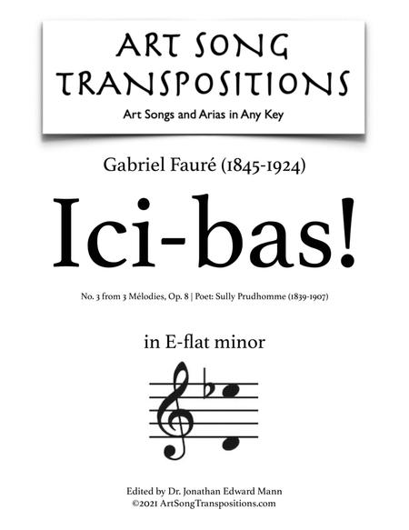 Ici-Bas! Op. 8 no. 3 (E-flat minor)