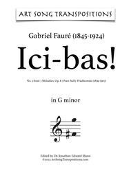 Ici-Bas! Op. 8 no. 3 (G minor)